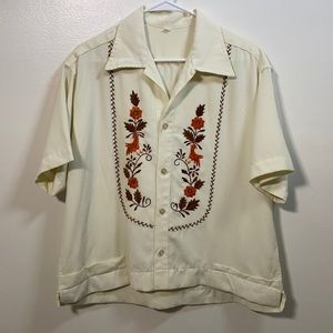 Vintage Button Down Embroidered Shirt